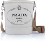 Prada Large Printed Linen Bucket Bag