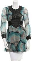 M Missoni Printed Silk Tunic