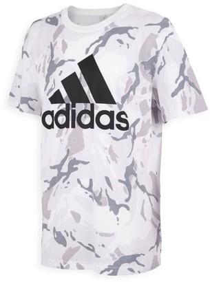 adidas Boy's Classic Camo Logo T-Shirt