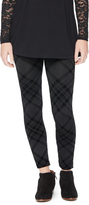 Motherhood Seamless Fleece Plaid Maternity Legging