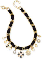 Charter Club Gold-Tone Imitation Pearl Charm Necklace, Only at Macy's
