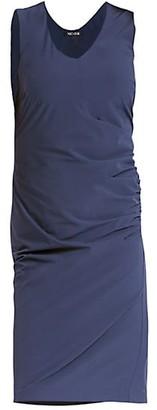 Nic+Zoe Tech Stretch Ruched V-Neck Dress