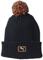 Puma Cat Patch Pom Beanie Black/Vibrant Orange