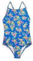 Ralph Lauren Little Girls and Girls One-Piece Floral Swimsuit