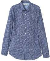 Mango Shirt Dark Blue