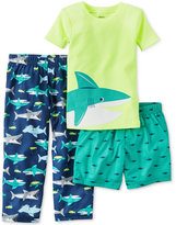 Carter's 3-Pc. Shark Pajama Set, Little Boys (2-7) & Big Boys (8-20)