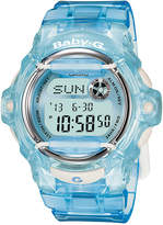 Baby-G Women's Digital Blue Resin Strap Watch 43mm