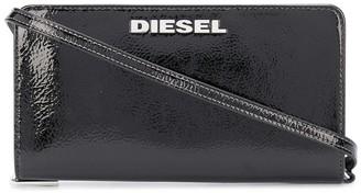 Diesel Glossy crossbody strap wallet