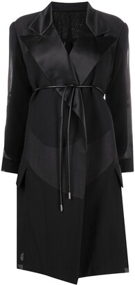 Sacai Sheer-Panel Oversized Coat