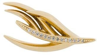 Shaun Leane White Feather diamond earring