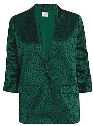 CAMI NYC Ollie Leopard Silk Blazer