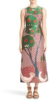 RED Valentino Women's Fantasy Landscape Jacquard Midi Dress