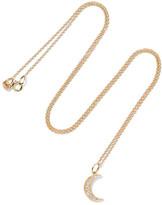 Andrea Fohrman Crescent Moon 18-karat Gold Diamond Necklace - one size