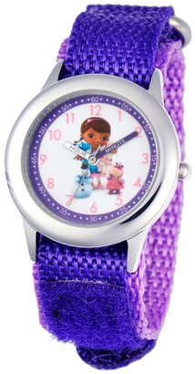 Disney Girl' Diney Doc Mctuffin tainle teel Watch - Purple