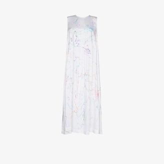 Collina Strada Ritual scribble print maxi dress