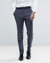 Reiss Slim Suit Pants In Salt N Pepper