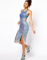 Asos Embellished Midi Dress With Diamond Back