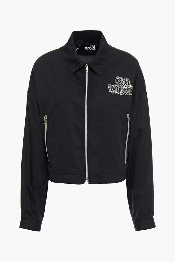 Love Moschino Crystal-embellished Cotton-blend Twill Jacket