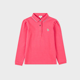 Paul Smith Girls' 7+ Years Fuchsia Zebra-Logo 'Malika' Polo Shirt