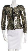 Isabel Marant Sequin-Embellished Collarless Jacket