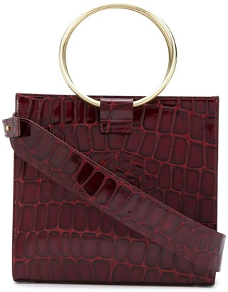 Tara Zadeh Crocodile-Effect Tote Bag