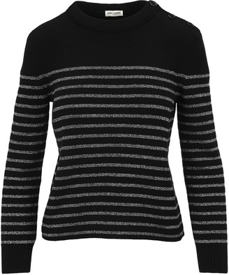 Saint Laurent Striped Knitted Sweater