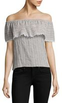 Bailey 44 Ruffled Striped Off-The-Shoulder Top