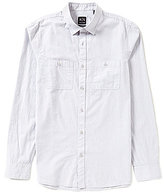 Armani Exchange Double-Pocket Long-Sleeve Solid Woven Shirt