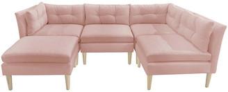 One Kings Lane Madeline U-Shaped Sectional - Blush - frame, natural; upholstery, blush