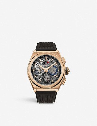 Zenith 18.9000.9004/71.R585 Defy El Primero 21 rose-gold and rubber automatic watch