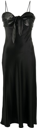 MATÉRIEL Twist Front Midi Dress