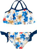 Floatimini Watercolor Floral Flounce Bikini Set