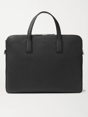 HUGO BOSS Crosstown Full-Grain Leather Briefcase - Men - Black