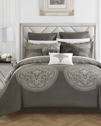 Chic Home Lira 9Pc Jacquard Comforter Set