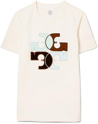 Tory Burch Colorblock Logo T-Shirt
