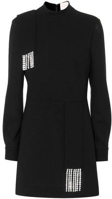 Christopher Kane Embellished wool dress