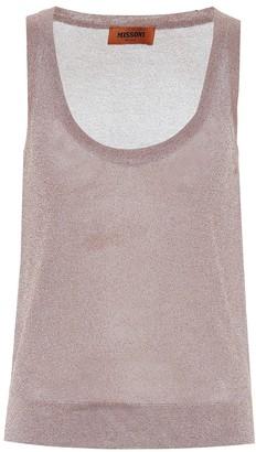 Missoni Metallic knit tank top