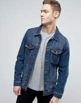 Pull&Bear Denim Jacket In Blue Wash
