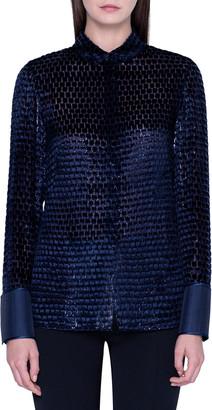 Akris Devore Button-Front Shirt