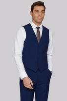 Moss Bros Tailored Fit Bright Blue Waistcoat