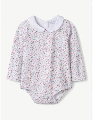 The Little White Company Floral-print cotton bodysuit 0-24 months