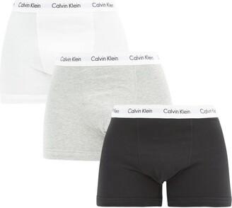 Calvin Klein Underwear Pack Of Three Stretch-cotton Boxer Trunks - Black Multi