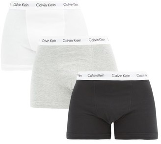 Calvin Klein Underwear Pack Of Three Stretch Cotton Boxer Trunks - Mens - Black Multi