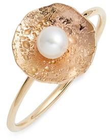 Poppy Finch Pearl Petal Ring