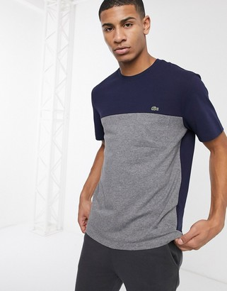 Lacoste pocket t-shirt in gray