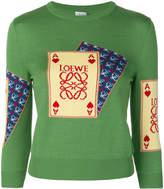 Loewe fine knit card sweater