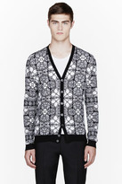Alexander McQueen Black & white stained glass cardigan