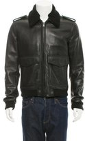 BLK DNM Leather Flight Jacket