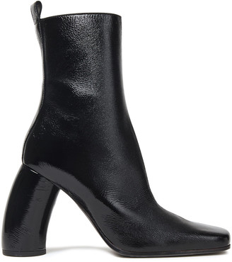 Ann Demeulemeester Crinkled Patent-leather Ankle Boots