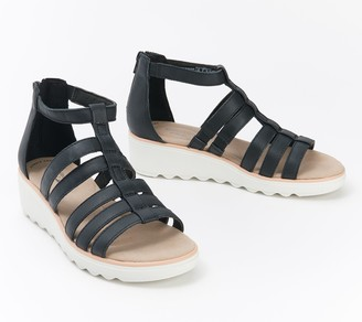 Clarks Collection Gladiator Wedge Sandals - Jillian Nina